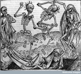 L0006816 Dancing skeletons, 'Dance of Death'