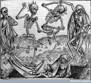 L0006816 Dancing skeletons, 'Dance of Death'