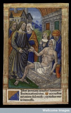 L0038308 Jesus Christ raises Lazarus from his tomb. Coloured