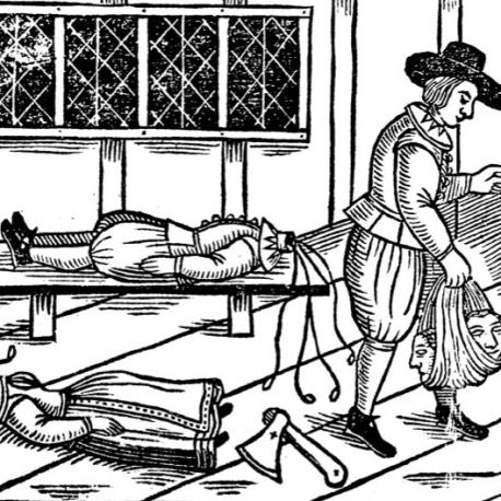 Murder woodcut Enoch ap Evan